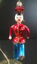 Vintage Santa's Best Glass Christmas Ornament Marching Soldier
