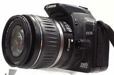 CANON EOS 350D DSLR With Canon 18-55mm EF-S 3.5-5.6 II Camera Lens - 266 B83