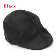Modern Unisex Peaked Beret Flax Cap Country Outdoors Golf Hat Fashion Cabbie