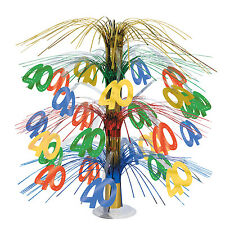 """Birthday Party-""""40th Birthday Cascade Centerpiece""""-New-Combine for Free Shipping"""