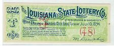 The Louisiana State Lottery Co. 1894