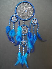 BLUE and SILVER DREAMCATCHER GOOD QUALITY DREAM CATCHER 9cm x 25cm