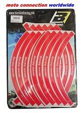 BLACKBIRD OFFICIAL HONDA RACING FACTORY RIM STICKERS RED FOR CR125 CR250