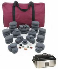 MassageMaster HOT STONE MASSAGE KIT: 70 Basalt Stones + 18 Quart Digital Heater