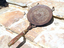 Old Primitive tin punch Strainer Scoop Hand Forged