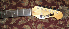 MEMPHIS ELECTRIC GUITAR Black 6 string A-10/BK 3/4 SIZE