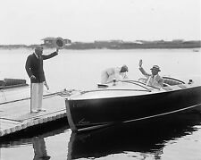 Atwater Kent  in His Super Bear Cat speed Boat  8 x 10  Photograph