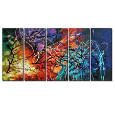 Modern Abstract Original Hand Paint Canvas Oil Painting Home Decor Colors Framed
