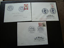 FRANCE - 3 enveloppes 1964 (le monde des philateliste) (cy43) french