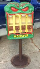 RARE Vintage 1988 Monstor Vendall Vending / Gumball Machine 4 Compartment WOW!!