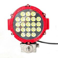 """TWO 7"""" RED 63w LED SPOT LIGHT 4WD OFF-ROAD DRIVING SUV JEEP 4X4 TRUCK WORK LIGHT"""