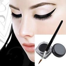 2016 Black Beauty Cosmetic Waterproof Eye Liner Eyeliner Shadow Gel Makeup+Brush