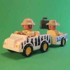 LEGO duplo safari voiture avec remorque de 2x safari personnage #s65