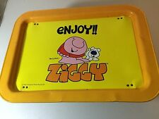 Ziggy Enjoy Metal TV Lap Folding Tray 1981 Comic Tom Wilson Universal Press
