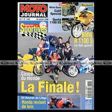 MOTO JOURNAL N°1336 YAMAHA YZF 1000 R1 SUZUKI GSXR 750 24 HEURES DE LIEGE 1998