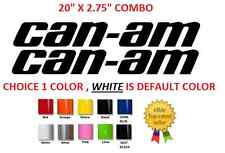 "(#463) 20"" CAN-AM TEAM OUTLANDER MAVERICK LOGO BRP STICKER DECAL EMBLEM (KIT)"