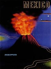 VINTAGE POSTER TRAVEL VOLCANO MEXICO ART POSTER PRINT LV4972