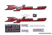 Set of red reflector emblem badge sticker decal for Honda Dylan 125 SES125