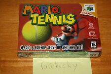 Mario Tennis (N64 Nintendo 64) NEW SEALED, NEAR-MINT, RARE NINTENDO CLASSIC!