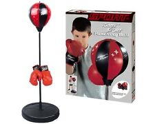 Training Boxing Punching Bag Gloves Adjustable Ball Kick Hit Kids King Workout