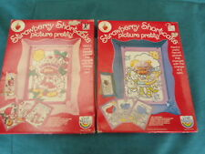 Lot of 2 Vtg Strawberry Shortcake Craft Master Picture Pretty Angel Cake Sealed