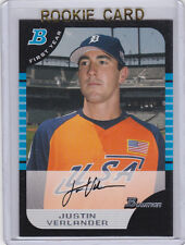 Justin Verlander 2005 RC Bowman Draft Pick ROOKIE CARD Baseball DETROIT TIGERS