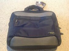 """New Targus Citygear Topload for Laptops up to 16"""", Black and gray, pkt for iPod"""