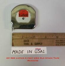 """New C 926 Lufkin 6 foot USA Tape Measure- OLD STOCK Steel Chrome Clad Tape 1/2"""""""