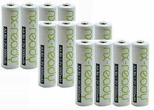 12 x AA 2000 mAh Rechargeable Batteries NiMH Low Self Discharge in FREE CASE! NX