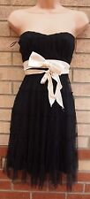 SELECT TUTU RUFFLE TRIM BOW BELTED BANDEAU FLARE FLIPPY PARTY TUNIC DRESS 12 M