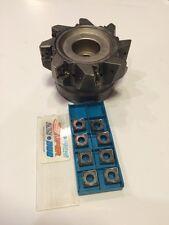 New Ingersoll Cutting Tool- Face Mill- DJ6T 04 R01 EDP 3029299  & 8 Inserts