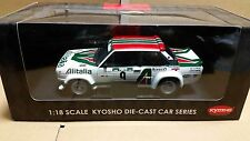 "KYOSHO FIAT 131 ABARTH RALLY  #9  1978 ""RALLYE DE PORTUGAL"" 1/18"