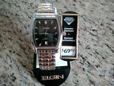 New Men's Elgin Two-tone expansion watch genuine diamond FREE SHIPPING in NA!