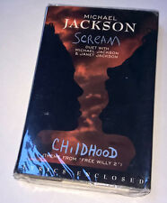 MICHAEL JACKSON Scream Childhood SEALED MINT Cassette Tape Single CASSINGLE 1995