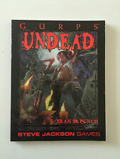 STEVE JACKSON GAMES GURPS UNDEAD FIRST EDITION FROM 2001 SEAN M PUNCH