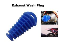 Muffler Exhaust BLUE Wash Plug Slip On Drag Bike ATV 4 Wheeler Quad Suzuki