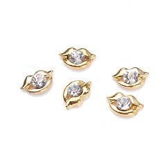 Mouth 3D Nail Art Designs Alloy Rhinestone Nail Accessories DIY Decoration 5pcs