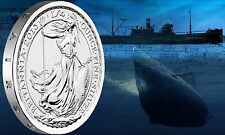 2013 Royal British Mint - S.S. Gairsoppa Britannia Shipwreck 1/4 oz Silver Coin