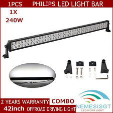 42Inch 240W PHILIPS Led Light Bar Flood Spot Combo Driving Suv Jeep PODS Track
