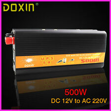 New UPS 6A 500W DC 12V to AC 220V Car Power Inverter Converter DOXIN
