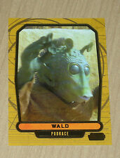 2013 Topps Star Wars Galactic Files Series 2 GOLD parallel WALO #399 9/10