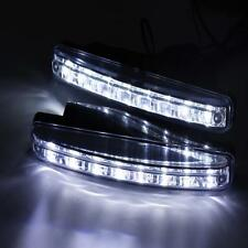 2x Car Light 8LED DRL Fog Driving Daylight Daytime Running LED White Head Lamp W