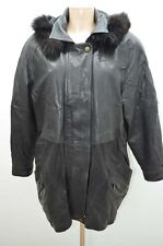 MANTEAU CUIR .  COAT SNIPPER'S 44 T44 NOIR LEATHER