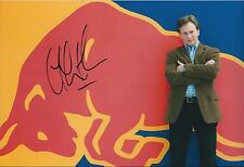 Christian Horner SIGNED Red Bull  Logo POSE AUTOGRAPH 12x8 Photo AFTAL COA