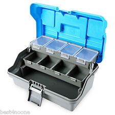 3 Layer Multifunctional Carp Fly Fishing Tackle Plastic Handle Box Blue