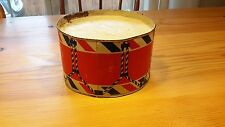 Vintage 1920's Toy Metal Drum Marching Band red white blue