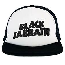 hat Black Sabbath, Trucker cap Black white music Hard Rock Heavy Metal hat