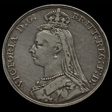 1888 Queen Victoria Jubilee Head Silver Wide Date Crown – Rare