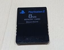 PS2 Black 8mb Memory card Official Genuine Sony Playstation 2 PS2 Cleaned tested