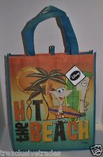 Disney Phineas and Ferb Reusable Eco Tote Shopping Beach Bag NEW